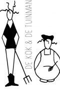 Logo kok en tuinman zwart wit DEF